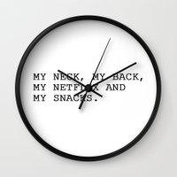 netflix Wall Clocks featuring NETFLIX by I Love Decor