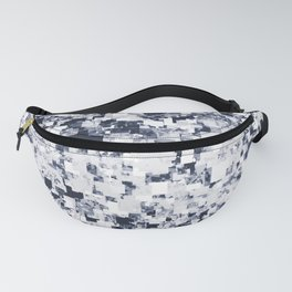 geometric square pattern abstract background in black and white Fanny Pack