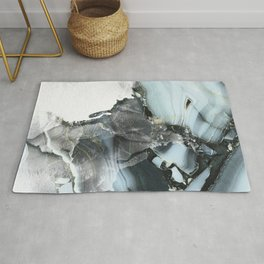Watercolor and Marble Pattern Modern Art Print Abstract Artwork - Stylish Gift Rug