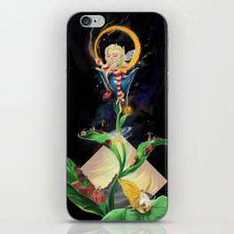 Moon fairy and the space scientists iPhone Skin