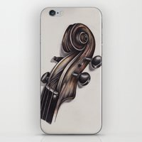 violin iPhone & iPod Skins featuring violin by Buffy Ino Kua
