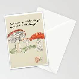 Amanita Moment With You. Muscaria a Mask Though. Stationery Cards