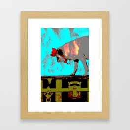 Bow Down to the Pug Framed Art Print
