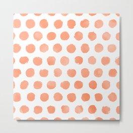 Fizzy Orange Watercolor Dots Metal Print