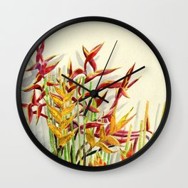 Heliconia Bouquet Wall Clock