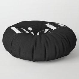 Typography Floor Pillow