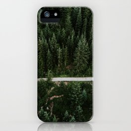 Trail through the woods iPhone Case