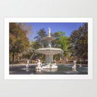 Forsyth Park Fountain Art Print