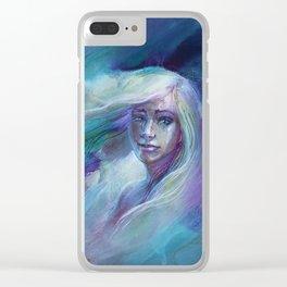 Selene in Moonlight Clear iPhone Case