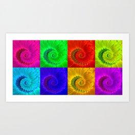 Gerbera Flower Spiral Art Art Print