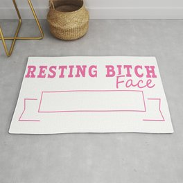 Things I Have Going For Me Resting Bitch Face Thick Thighs And Sarcasm Rude Attitude T-shirt Design Rug
