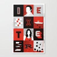 dexter Canvas Prints featuring Dexter by Bill Pyle