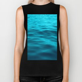 Water : Teal Tranquility Biker Tank