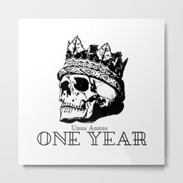 Unus Annus Design Metal Print