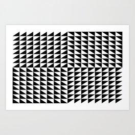 Optical illusion noir blanc triangle Art Print