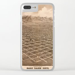 Map Of Salt Lake City 1875 Clear iPhone Case