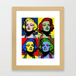 Monroe Pop Art Framed Art Print
