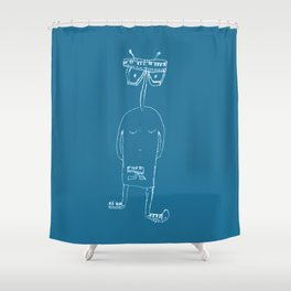 Keyboard man Shower Curtain