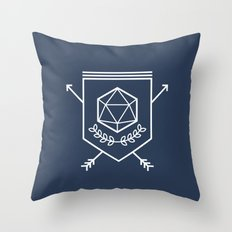 Roleplayer's Crest Throw Pillow