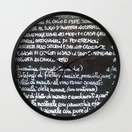 Italian menu Wall Clock