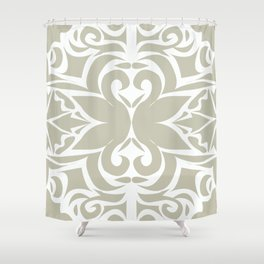 grey floral pattern Shower Curtain