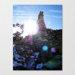 Canyon Side Canvas Print