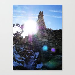 Canyon Side Canvas Print