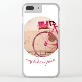 Lady in Pink Clear iPhone Case