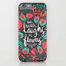 The Earth Laughs in Flowers – Pink & Charcoal Slim Case iPhone 6