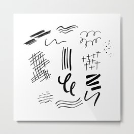 shapes be takin ova Metal Print