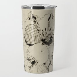 Black Hibiscus Travel Mug