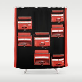 LETTERS Shower Curtain