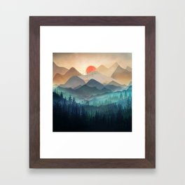 Wilderness Becomes Alive at Night Framed Art Print