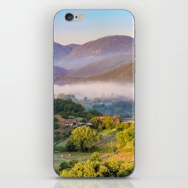 Mist in the valleys, Umbria, Italy iPhone Skin