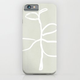 Minimal Plant design iPhone Case