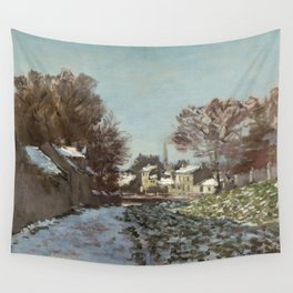 Snow at Argenteuil Wall Tapestry
