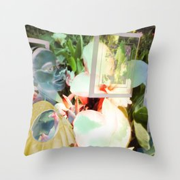 """""""Muse Solarized, And In 3D"""" Throw Pillow"""