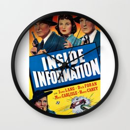 Vintage Movie Posters, Inside Information Wall Clock