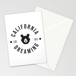 California Dreaming Minimalist Bear Stationery Cards