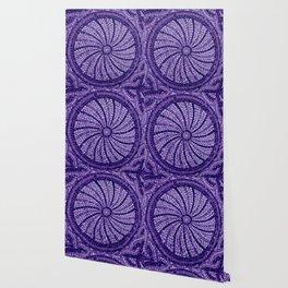 Ultra Violet Stone Tiles 18-3838 Wallpaper