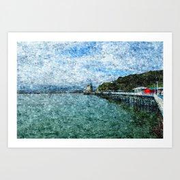 Llandudno Pier in Summer Art Print