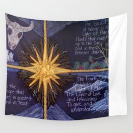The Four Lights of Winter Wall Tapestry