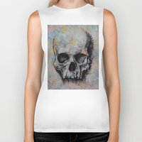 medieval Biker Tanks featuring Medieval Skull by Michael Creese