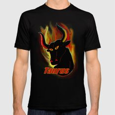 Taurus the Bull Mens Fitted Tee Black 2X-LARGE