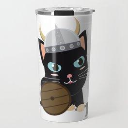 Viking cat   Travel Mug