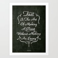 lettering Art Prints featuring Lettering 001 by Noem9 Studio