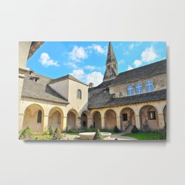 French Augustinian Convent building of Cremieu in Isere Rhone-Alpes Metal Print