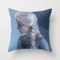 elsa Throw Pillows featuring Elsa by LindaMarieAnson