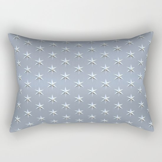 elegant silver star pattern Rectangular Pillow