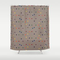 sprinkles Shower Curtains featuring Sprinkles by D.J.D